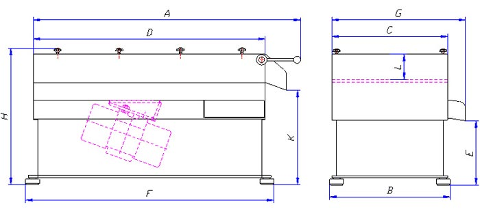 Floor separation unit technical diagram